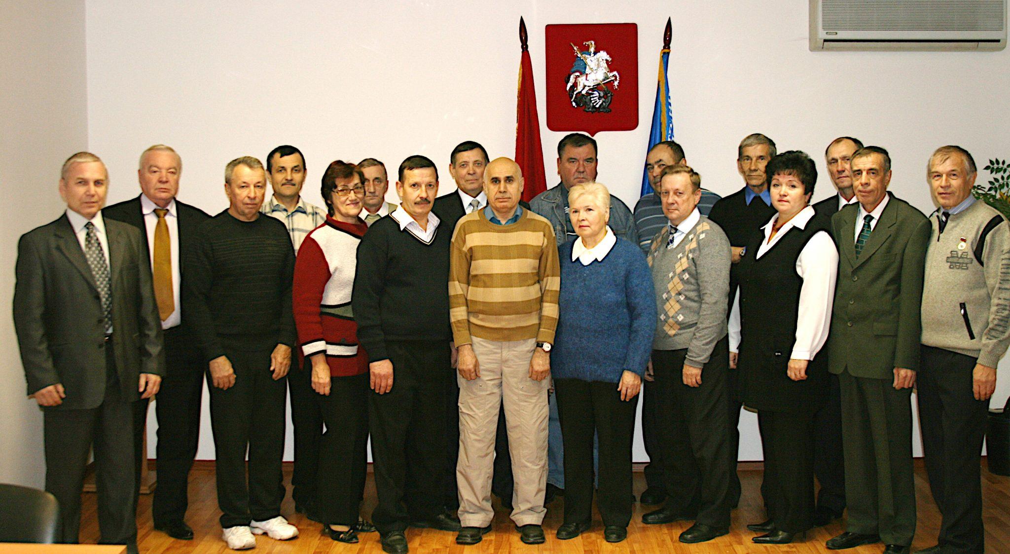 2014 год. Ветераны СУ-16. Бочкарёв В.К. второй слева