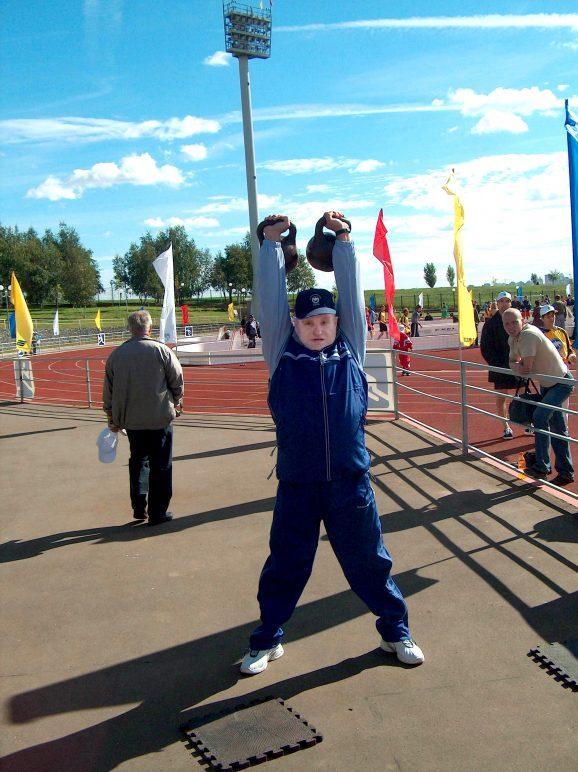 Александр Ананьев на разминке