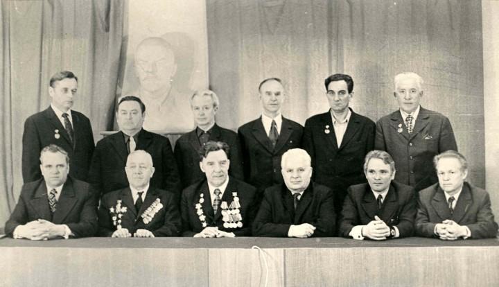 1975 г. Ветераны ВОВ (аппарат управления МОСЛИФТа)